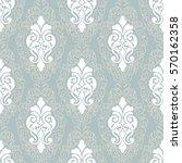 vector damask seamless pattern... | Shutterstock .eps vector #570162358