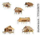 straw hut vector design | Shutterstock .eps vector #570163870