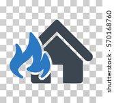 fire damage icon. vector... | Shutterstock .eps vector #570168760