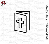 web line icon. bible  holy writ