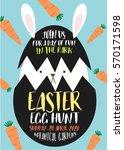 easter egg hunt poster ...   Shutterstock .eps vector #570171598