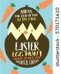 easter egg hunt poster ... | Shutterstock .eps vector #570171610