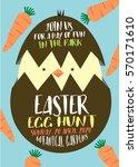 easter egg hunt poster ... | Shutterstock .eps vector #570171610