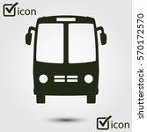 bus icon. schoolbus symbol.... | Shutterstock .eps vector #570172570