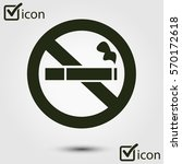no smoke icon. stop smoking...