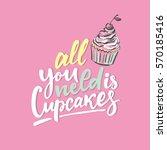 Sweet Cupcake Print. Lettering...