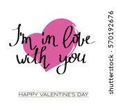 valentines day greeting card...   Shutterstock .eps vector #570192676