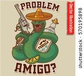 cool snake revolver posters for ... | Shutterstock .eps vector #570195898