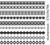vector set of geometric black... | Shutterstock .eps vector #570196798