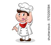 cartoon cute funny chef cook in ... | Shutterstock .eps vector #570200584