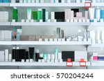 various products on shelves at... | Shutterstock . vector #570204244