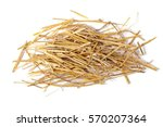 pile straw isolated on white... | Shutterstock . vector #570207364