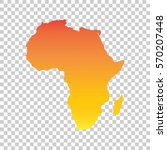 africa map. colorful orange... | Shutterstock .eps vector #570207448