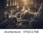 craftsman artist making craft ... | Shutterstock . vector #570211708