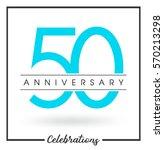 anniversary emblems 50...   Shutterstock .eps vector #570213298