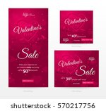 set of stylish sale banners of... | Shutterstock .eps vector #570217756
