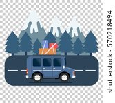 travel car campsite place... | Shutterstock .eps vector #570218494