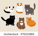 funny characters of cats in... | Shutterstock .eps vector #570222883