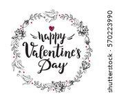 happy valentine's day.... | Shutterstock .eps vector #570223990
