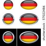 german flag buttons   Shutterstock .eps vector #57022486