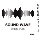 sound wave.abstract equalizer... | Shutterstock .eps vector #570225280