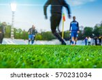 training soccer players on... | Shutterstock . vector #570231034