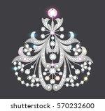 illustration  brooch pendant... | Shutterstock .eps vector #570232600