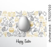 vintage easter background with... | Shutterstock .eps vector #570237010