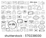 set of hand drawn sketchy post... | Shutterstock .eps vector #570238030