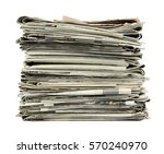 pile of newspapers isolated on...   Shutterstock . vector #570240970