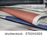 stacked newspapers | Shutterstock . vector #570241003