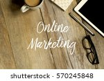 business concept. top view of... | Shutterstock . vector #570245848