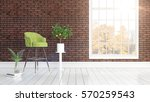 modern bright interior with... | Shutterstock . vector #570259543