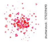 colorful watercolor heart shape ... | Shutterstock . vector #570259690