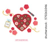 valentines day romantic gift ... | Shutterstock .eps vector #570261046