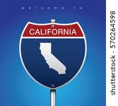 sign of state american in road... | Shutterstock .eps vector #570264598