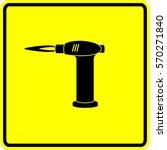 butane torch sign | Shutterstock .eps vector #570271840