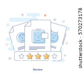 client's review  outline...   Shutterstock .eps vector #570273178