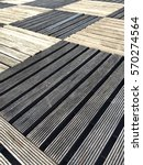 Outdoor Slat Flooring Two Tone