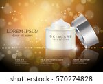 cosmetic hand cream box vector... | Shutterstock .eps vector #570274828