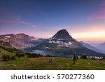 Hidden Lake Trail, Logan Pass, Glacier National Park, Montana, USA - stock photo
