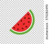 watermelon icon. juicy ripe... | Shutterstock .eps vector #570282490