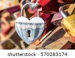 love lock at the hohenzollern... | Shutterstock . vector #570283174