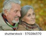 senior couple in autumn park | Shutterstock . vector #570286570