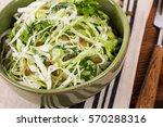 cabbage coleslaw with pumpkin... | Shutterstock . vector #570288316