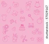 baby background | Shutterstock .eps vector #57029167