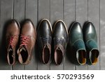 leather men's shoes | Shutterstock . vector #570293569