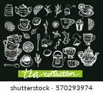 hand drawn tea time collection. ... | Shutterstock .eps vector #570293974