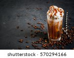 cold coffee drink frappe ... | Shutterstock . vector #570294166