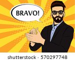 hipster beard businessman... | Shutterstock .eps vector #570297748